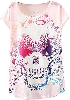 Amazon.fr : tee shirt tete de mort femme