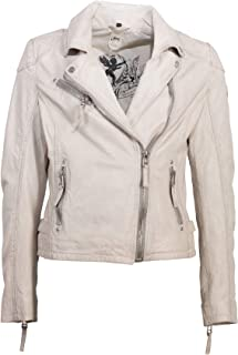 giacca pelle bianco gipsy