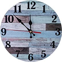 Wall Clocks Non-Ticking Silent 25cm Vintage Coastal Quartz Decro Clock Easy to Read for Room/Home/Kitchen/Bedroom/Office/S...