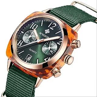 Women's Watch, Nylon Strap, Quartz Watch, disc Multi Needle Quartz Ladies Watch
