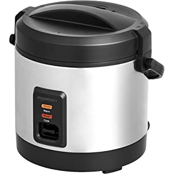 AmazonBasics - Mini Rice Cooker with Accessories, 4 Cups Cooked Rice