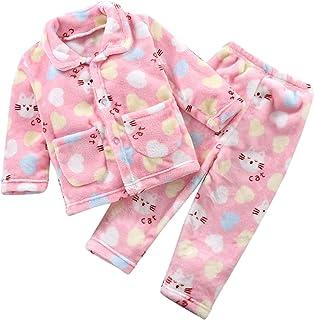 Upxiang Pigiama per Bambino e Neonato Due Pezzi Autunno Inverno Maniche Lunghe Cartoon Stampa Pyjama Sleepwear Indumenti d...