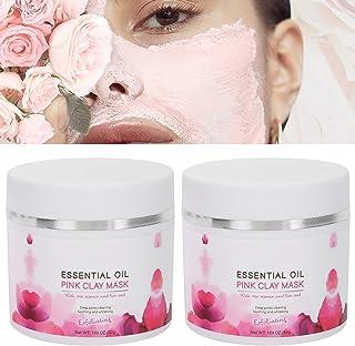 Kleimasker, diepreinigend gezichtsmasker, 50 g x 2 stuks Kleimasker Exfoliërend gezichtsmasker Diepe reiniging Hydraterend...