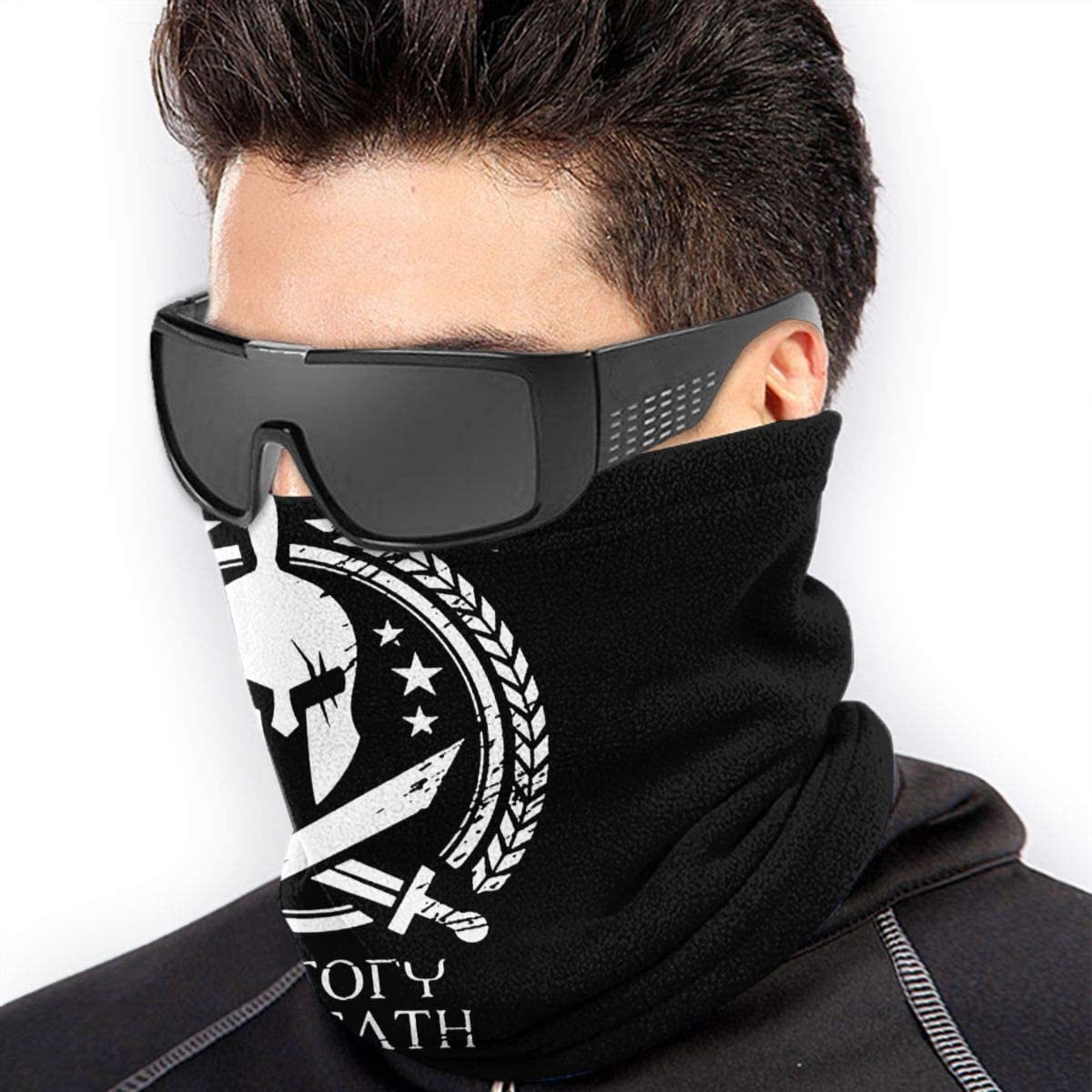 XXWKer Sciarpe Collo Scaldacollo Spartan Warrior Molon Labe Neck Cover Neck Warmer Winter Neck Warmer