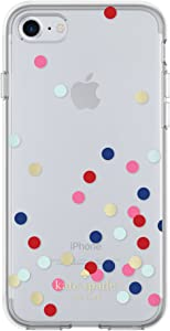 kate spade new york Flexible Hardshell Case for iPhone 8 - also compatible with iPhone 7 - Confetti Dot Clear / Multi / Gold