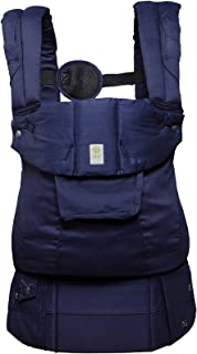 LÍLLÉbaby The Complete Organi-Touch SIX-Position 360 Ergonomic Baby & Child Carrier, Blue Moonlight - Organic Cotton Baby Carrier
