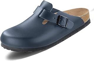Birkenstock Men's Boston Smooth Leather Wide Clogs
