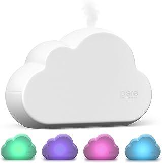 خالص غنی سازی MistAire Cloud - رطوبت ساز ماوراء بنفش اولتراسونیک و چراغ شب برای کودک و نوزاد با مخزن آسان 1.8L تمیز ، مگس متغیر و عملکرد آرام برای مهد کودک ، اتاق بازی یا اتاق خواب