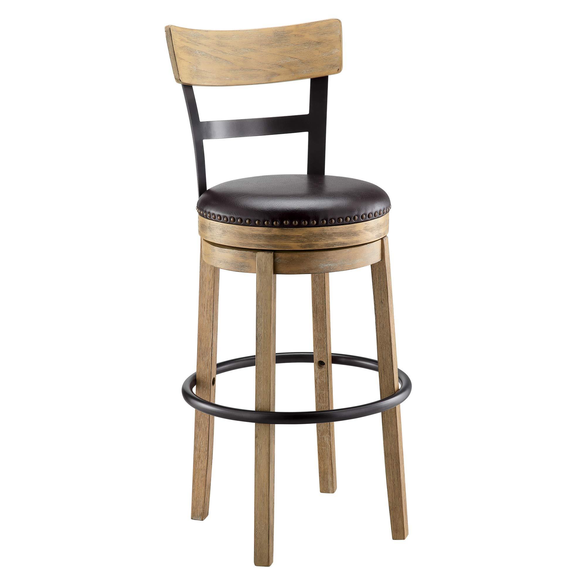 Amazon Com Ball Cast Swivel Bar Stool Pub Height Light Brown Hsa 1001a Furniture Decor
