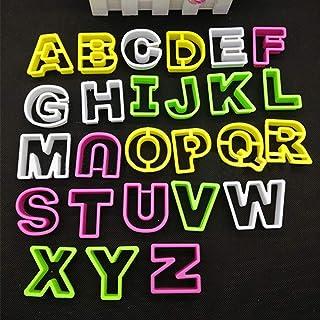 Makwes 1 Conjunto A-Z 26 Letras El plastico Galleta Galleta Cortador Fondant Pastel Decorar Horneando Molde