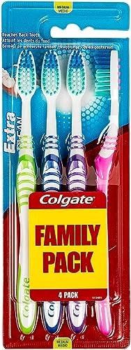 COLGATE - Brosse à Dents Extra Clean Medium - Favorise une Bonne Santé Bucco-Dentaire - Nettoie en Profondeur - Attei...