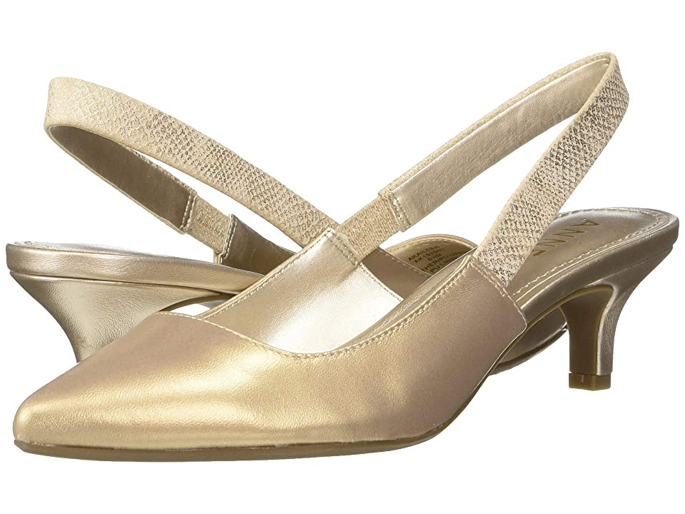Anne Klein Aileen Slingback Heel (Natural Leather) Women
