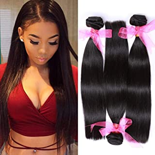 Missexy Hair Virgin Brazilian Straight Hair 16 18 20inch Grade 10A 100% Unprocessed Brazilian Straight Human Hair Extensions Natural Color