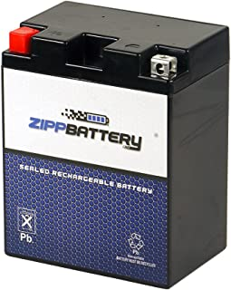 Rechargeable 14A-A2 Powersport Battery- Maintenance Free & Sealed- Replaces YTX14AH, UTX14AH=BS, PTX14AH-BS- Zipp Battery