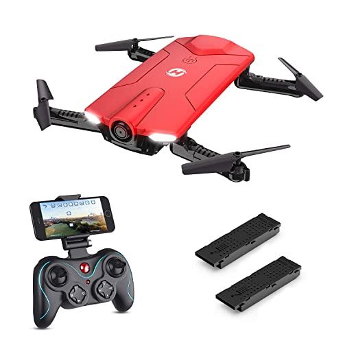 Holy Stone Mini HS160R Shadow FPV RC Drone with 720P HD Wi-Fi Camera Live Video Feed 2.4GHz 6-Axis Gyro Quadcopter for Kids & Beginners-Altitude Hold, One Key Start, Foldable Arms, 2PCS Battery