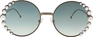503025633e5e Sunglasses Fendi Ff 295  S 0J7D Semi Matte Bronze   EZ green silver mirror  lens