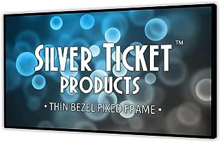 STT-169110-G Silver Ticket Thin Bezel 16:9 Aspect Ratio 4K Ultra HD Ready HDTV (6 Piece Fixed Frame) Projector Screen (16:9, 110