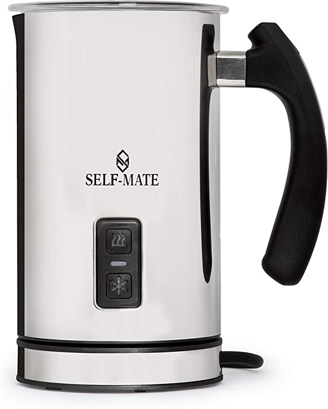 Automatic Milk Frother Heater And Cappuccino Maker Stainless Steel Electric Milk Steamer Machine Cold Or Hot Milk Espresso Chocolate Coffee Foamer Easy To Use Sturdy Silent For Home Or Caf