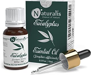 Naturalis Essence of Nature High Grade Eucalyptus Essential Oil Pure & Natural Therapeutic Grade, Perfect For Cough, Cold...