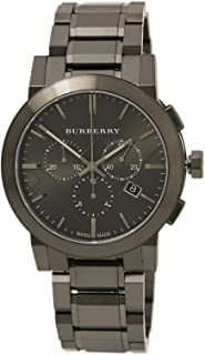 Men's BU9354 Large Check Gray Ion Plated Stainless Steel Watch