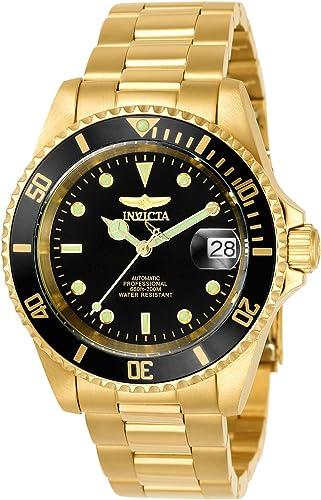 Invicta 8929OB Pro Diver - Reloj de pulsera unisex de acero inoxidable, esfera negra