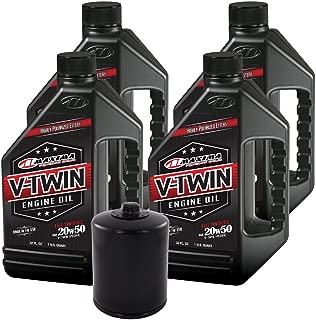 MaximaHiflofiltro VTEOCK14 Full Synthetic Engine Oil Change Kit for Harley Davidson Twin Cam V-Twin