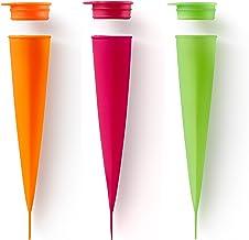Lekue Ice Cream Pop Molds Set of 3, Colors, Assorted