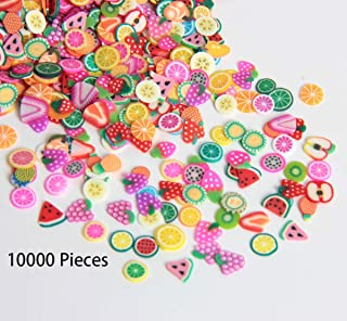 SBYURE 10000 Pieces Tiny Fruit Slime Charms Cute Set Charms for Slime Assorted Fruits for Arts Crafts,Ornament Scrapbooking DIY Crafts ( Apple Banana Strawberry Blueberry Watermelon Melon