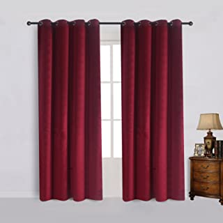Best chocolate brown velvet curtains Reviews
