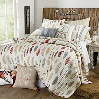 Rod's Be Bold, Be Brave Southwest Feather Quilted Bedding, King