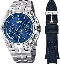Festina Chrono Bike 2016 Men's Quartz Watch with Blue Colour Dial Chronograph Display and Stainless Steel Bracelet F16971/3