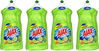 Ajax Ultra Triple Action Liquid Dish Soap, Lime 52 Ounce - 4 Pack