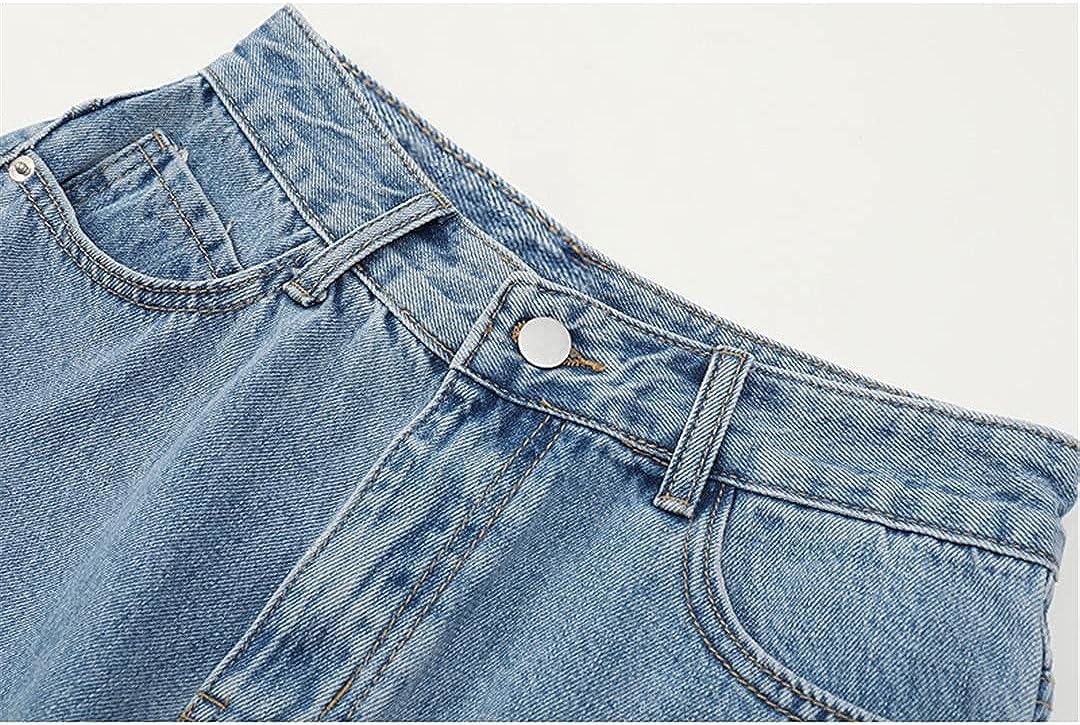 Vintage Streetwear High Waist Wide Leg Denim Shorts for Women 2021 Summer Jean Shorts Women Korean Style