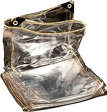 Schaduw en regendicht zwembad tafelhoes Clear Tarpaulin, PVC Waterdicht 450GSM Heavy Duty Tarp Cover Stofdicht Regendicht ...