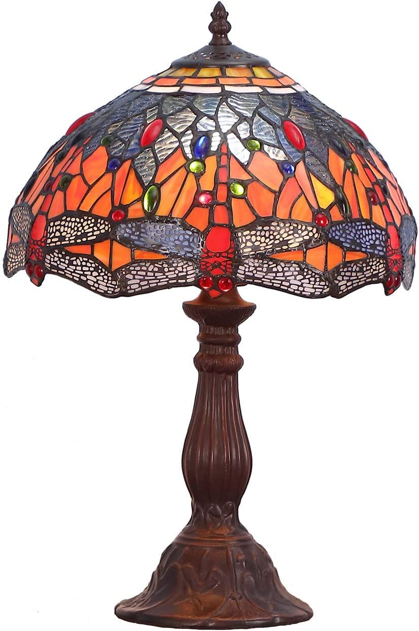 Bieye L10689 Dragonfly Tiffany Style Stained Genuine latest wi Lamp Glass Table
