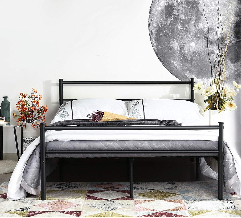 Aingoo Metallbettgestell mit Lattenrost Gstebett Bettrahmen Jugendbett Kinderbett für Kinderzimmer Gstezimmer Schlafzimmer Bett In Schwarz