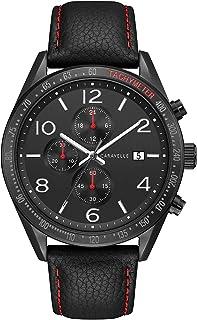 Caravelle by Bulova 45B153 - Reloj de cuarzo para hombre (acero inoxidable y piel), color negro