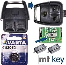 Juego de reparación Opel Juego de reparación de Llaves para automóvil con 3 Botones + botón + batería para Opel Vectra C Signum