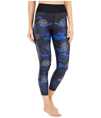 Ultracor Camobloom Ultra High Leggings (Cobalt Print/Patent Nero) Women