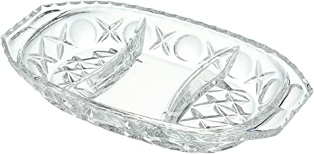 Bohemia Crystal Divided Platter - Clear