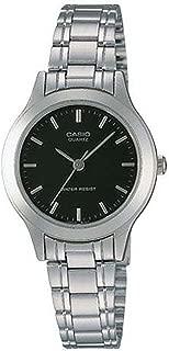 Casio #LTP1128A-1A Women's Metal Fashion Analog Black Dial Quartz Watch