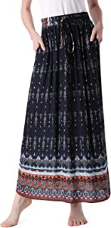long cotton printed skirts