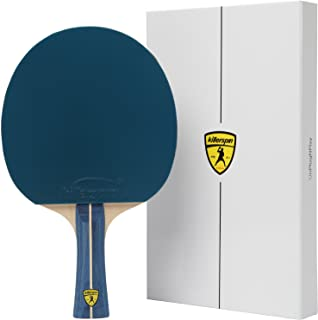 Recreational Ping Pong Paddle, Table Tennis Racket with Wood Blade, Jet Basic Rubber Grips Ping Pong Balls