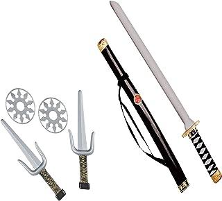 WIDMANN 27271 Ninja Waffenset, 1 Schwert mit Scheide, 2 Sai