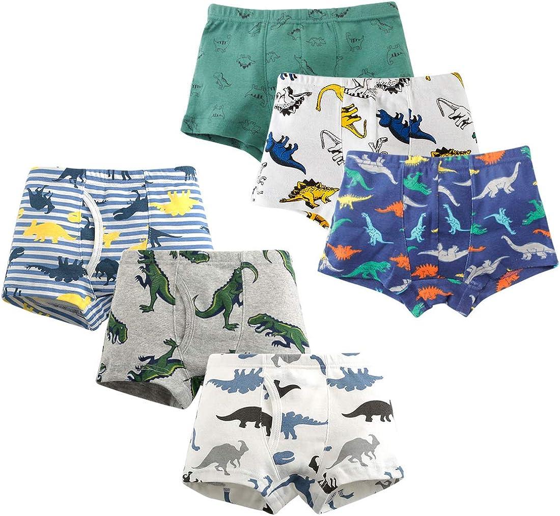 Boys Boxer Briefs Toddler Boy Underwear Training Shorts Cotton 2T 3T 4T Dinosaur Shark Baby for Kids Boy