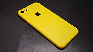 INDEZIRE® Anti Slip Ultra Thin Plastic Phone Case Mobile Back Cover for i-Phone 7 (Yellow)