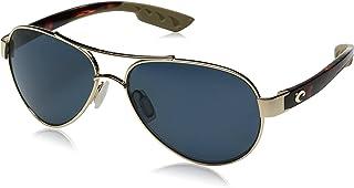 5fe9569113705 Costa del Mar Loreto Polarized Aviator Sunglasses Rose Gold 56.5 mm