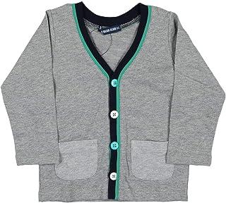 【子供服】 Little Bear Club (リトルベアークラブ) ミニ裏毛カーディガン 80cm S10452
