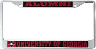 Desert Cactus University of Georgia Alumni Metal License Plate Frame for Front Back of Car Officially Licensed UGA Bulldogs (Alumni)