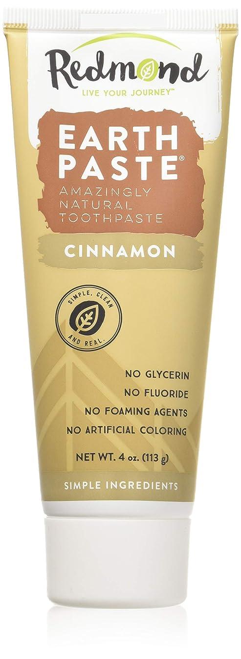 ボリュームぼんやりした降雨海外直送品Redmond RealSalt Natural Organic Flouride Free Toothpaste Cinnamon, Cinnamon 4 OZ